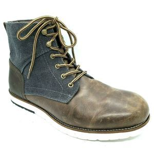 IZOD Lambert Brown Lace Up Boots, Men's Size 10
